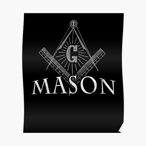 Masonic Lodge Shirt Mason Shirt Freemason T Shirt Poster