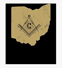 Ohio Freemason Shirt Masonic Ritual Shirt Freemason Gifts Photographic Print