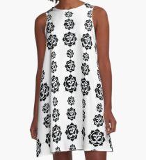 Super Aum Emanation White on Black A-Line Dress