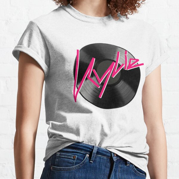 Kylie Minogue - record (black and pink) Classic T-Shirt