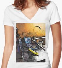 The Grater and the Glass Bowl Women's Fitted V-Neck T-Shirt