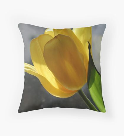 Yellow Beauty 02 Throw Pillow