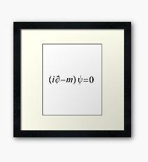 Dirac Equation Framed Print