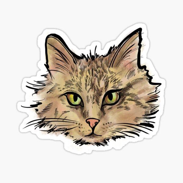 Maine Coon Tabby Sticker