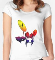 Electric Drum Women's Fitted Scoop T-Shirt