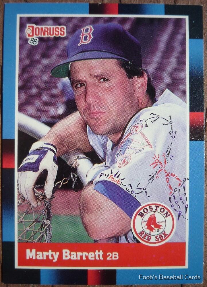 144 - Marty Barrett by Foob's Baseball Cards