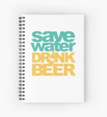 Save Water Drink Beer Spiral Notebook