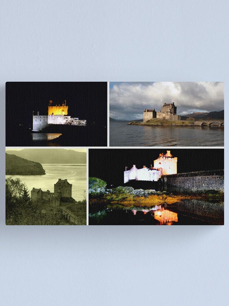 Alternate view of Eilean Donan Castle Collage Canvas Print