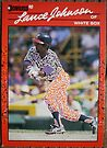 154 - Lance Johnson by Foob's Baseball Cards