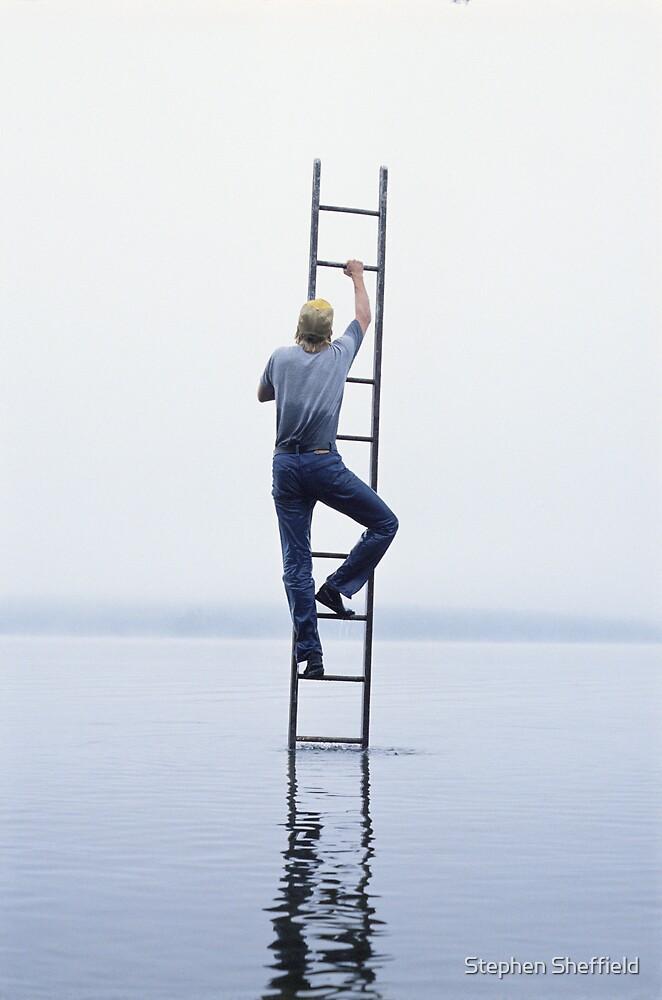 ladder #5, (self portrait) by Stephen Sheffield