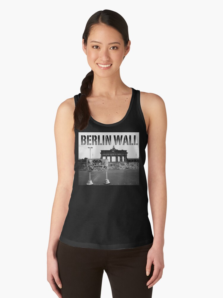 BERLIN WALL at the BRANDENBURG GATE W. GERMANY 1989 - PRO PHOTO Women's Tank Top Front