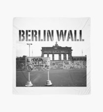BERLIN WALL at the BRANDENBURG GATE W. GERMANY 1989 - PRO PHOTO Scarf