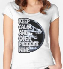 Keep calm and open paddock nine Women's Fitted Scoop T-Shirt
