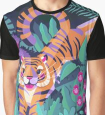 Jumping Tiger - Flying Toucan Graphic T-Shirt