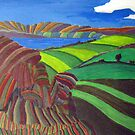 253 - AKELD FROM AKELD HILL - DAVE EDWARDS - ACRYLIC - 2009 by BLYTHART