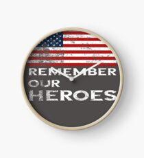 Memorial Day-Remember our Heroes Clock