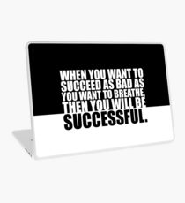 "When you want to... ""Eric Thomas"" Gym Motivational Quote Laptop Skin"