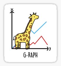 Cute Giraffe Graph Animal Pun Sticker