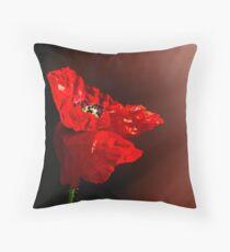 Red poppy 2 Throw Pillow