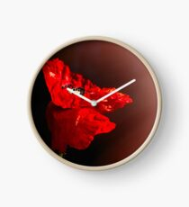 Red poppy 2 Clock