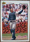 182 - Greg Olson by Foob's Baseball Cards