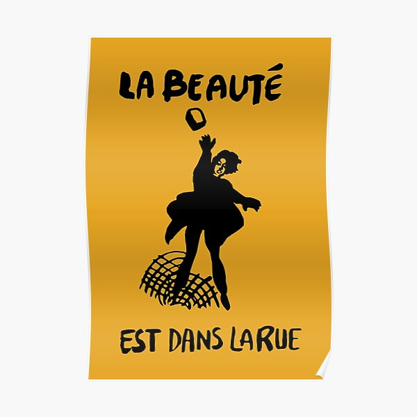 Beauty Is in the Street (black) Poster