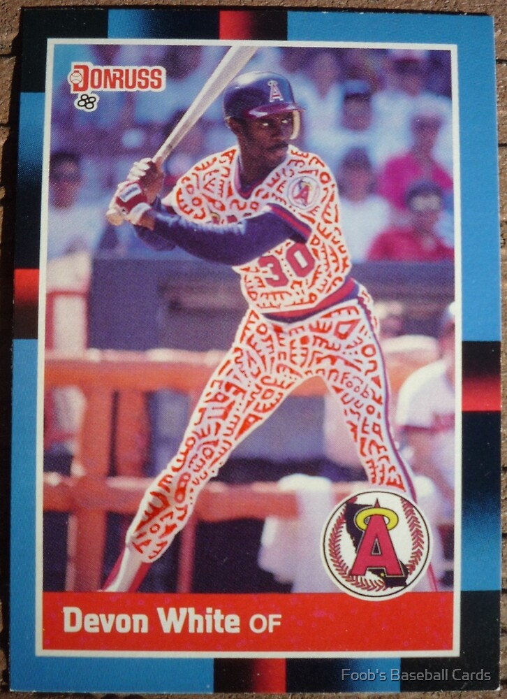 196 - Devon White by Foob's Baseball Cards