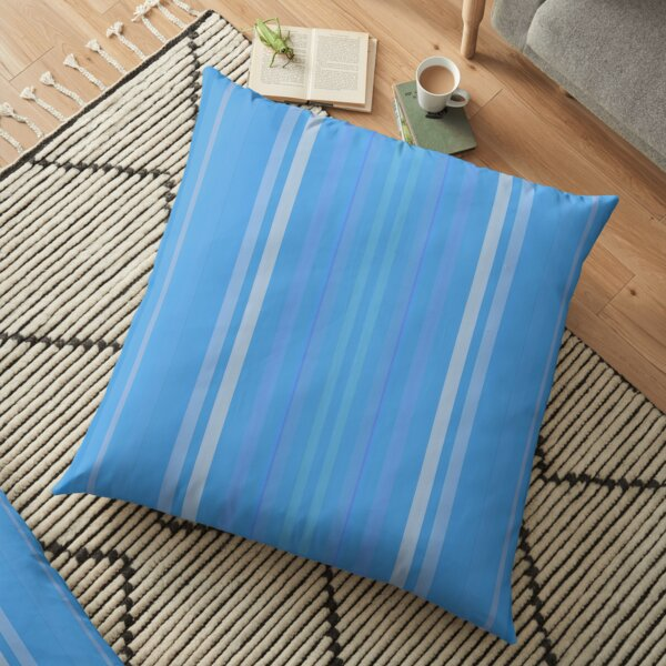 Forget Me Not Blue Floor Pillow