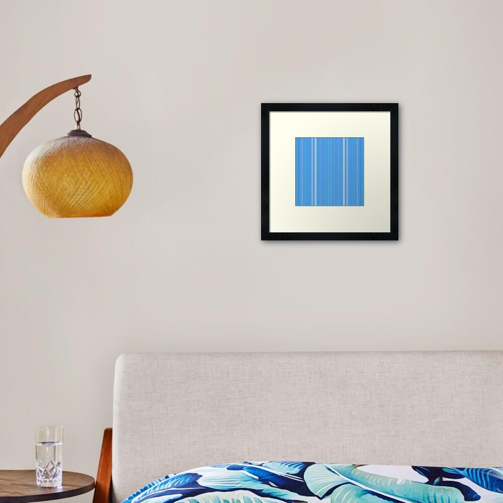 Forget Me Not Blue Framed Art Print