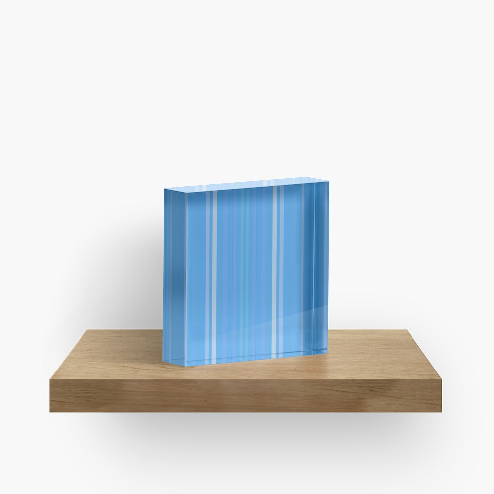 Forget Me Not Blue Acrylic Block