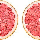 Grapefruit halves by 6hands