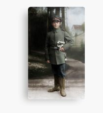 German soldier in Pirna, c. 1916 Metal Print