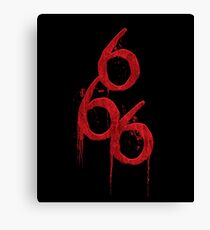 666 The Number of the Beast Canvas Print