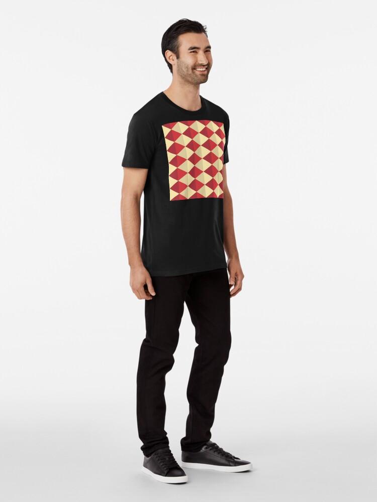 Alternate view of Geometric Pattern: Split Diamond: Red Premium T-Shirt