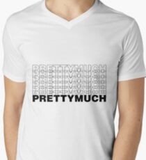PRETTYMUCH Men's V-Neck T-Shirt