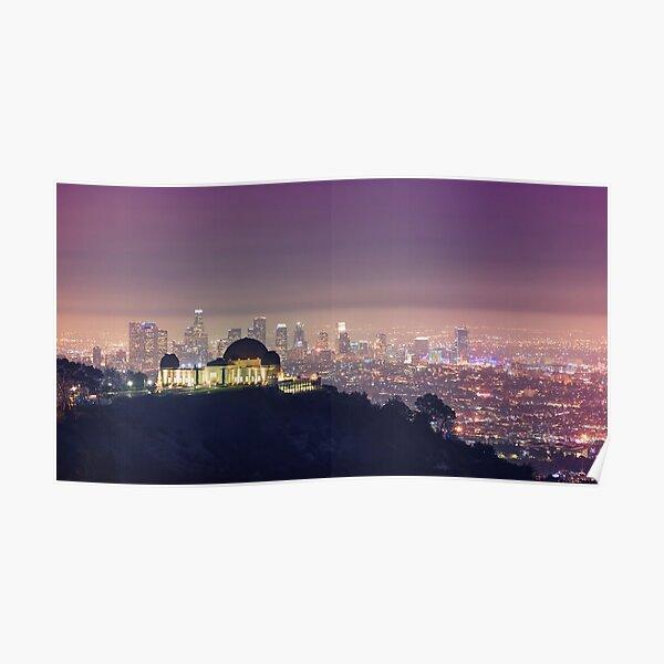 Paysage urbain de Los Angeles Poster