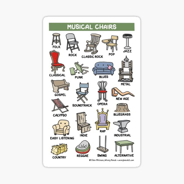 musical chairs Sticker