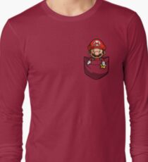Pocket Mario Tshirt Long Sleeve T-Shirt