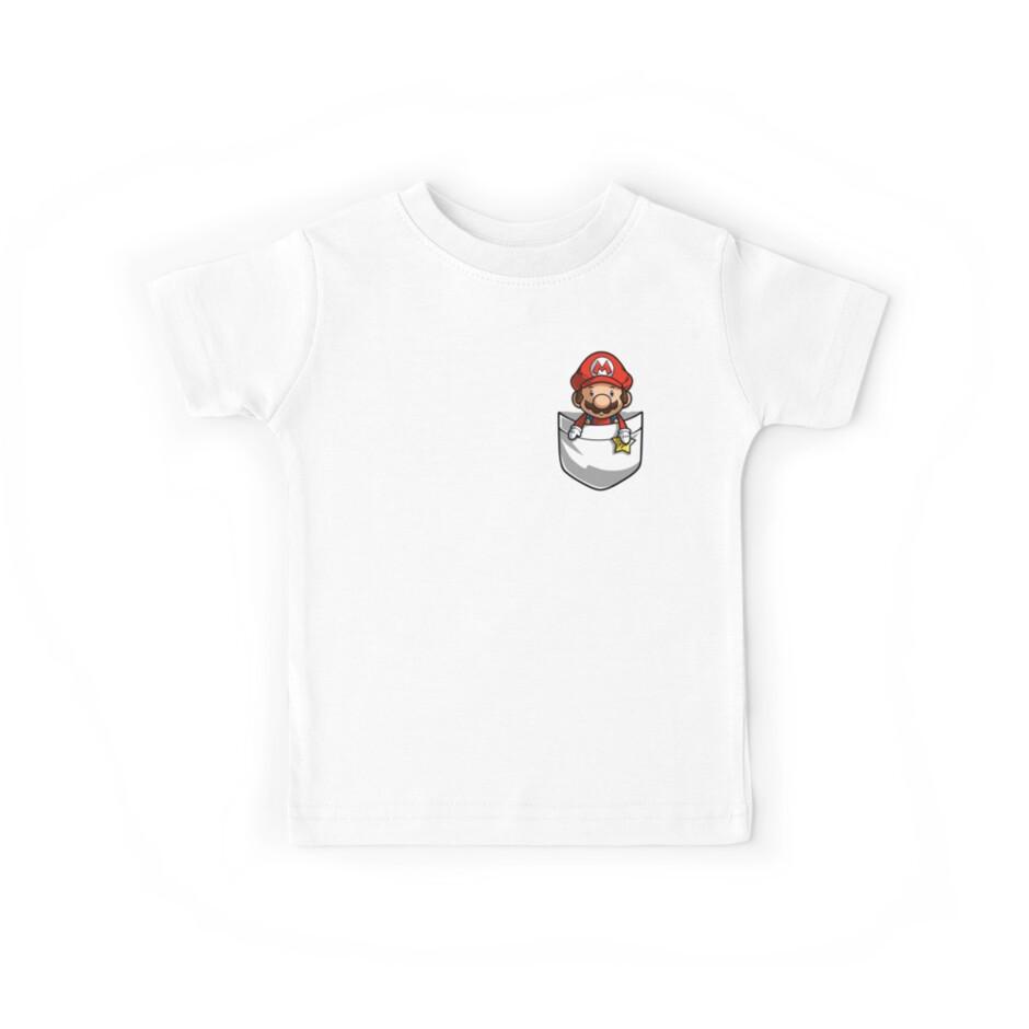 Pocket Mario Tshirt by Purrdemonium