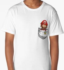 Pocket Mario Tshirt Long T-Shirt
