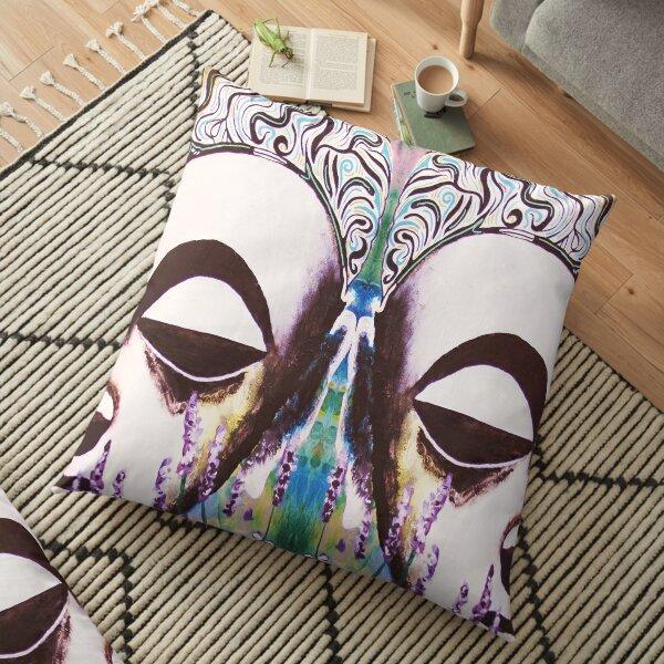 Lavender Buddhas 1 Floor Pillow