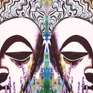 Lavender Buddhas 1 by DharmaDog215