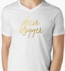 Decor Blogger - Faux Gold Foil Men's V-Neck T-Shirt