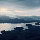 Sunset over Derwent Water, Lake District National Park, UK. by GeorgeOne