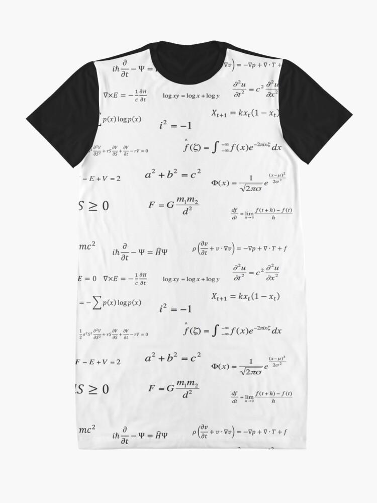 Vista alternativa de Vestido camiseta Ecuaciones matemáticas