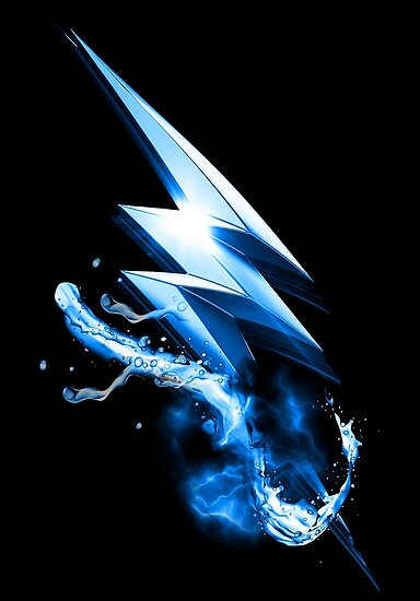 Flash Blue Lightning Bolt By Artofronnie
