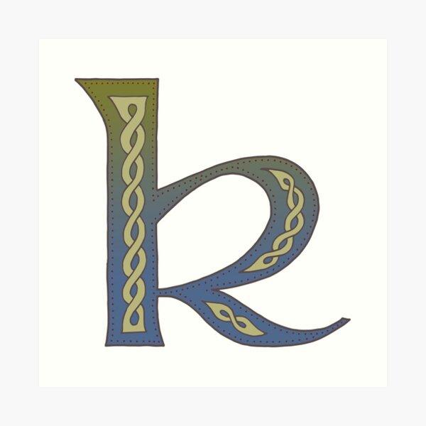 Celtic Knotwork Alphabet - Letter K Art Print