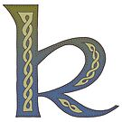 Celtic Knotwork Alphabet - Letter K by Carrie Dennison