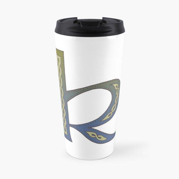 Celtic Knotwork Alphabet - Letter K Travel Mug