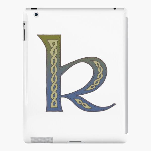 Celtic Knotwork Alphabet - Letter K iPad Snap Case